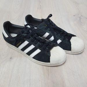 Adidas Gazelle black and White Sneakers Men's 9
